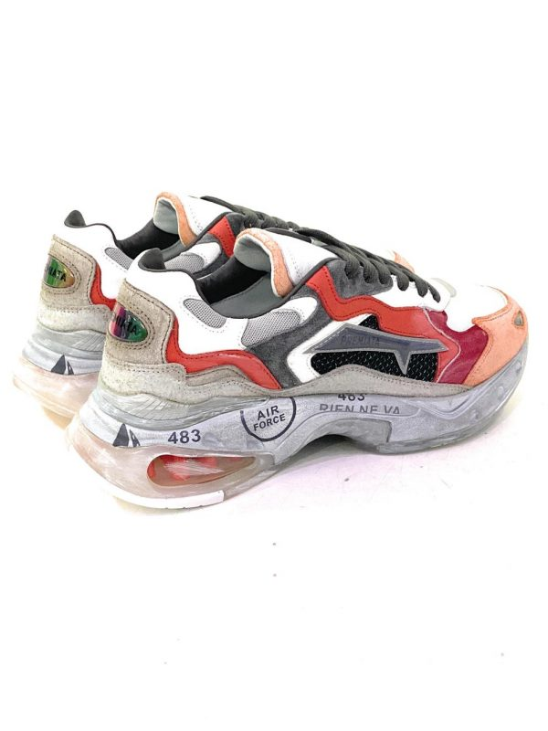 Premiata Sneakers SHARKY.066 Uomo multicolore in pelle e tessuto. Acquistale su ViaRomaBoutique.it