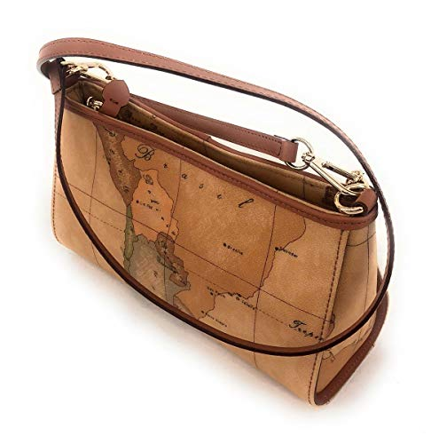 Alviero Martini Prima Classe Borsa a Tracolla donna Stampa Geo Classic. Tracolla estraibile. Dettaglio catena in oro con Logo 1CLASSE. Chiusura con Zip. Borsa interna con due tasche di cui una con la Zip. 39% CO 28%PVC 13%PU 20%CALF LEATHER.