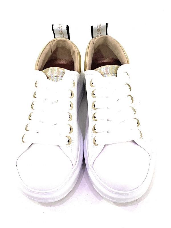 Alexander Smith Sneakers da donna White/Gold. Interno in pelle con soletta estraibile. Chiusura sneakers con lacci. Acquistala su ViaRomaBoutique.it