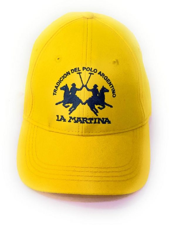 La Martina Cappello Con Visiera e Logo Frontale Giallo Unisex Acquistalo su ViaRomaBoutique.it