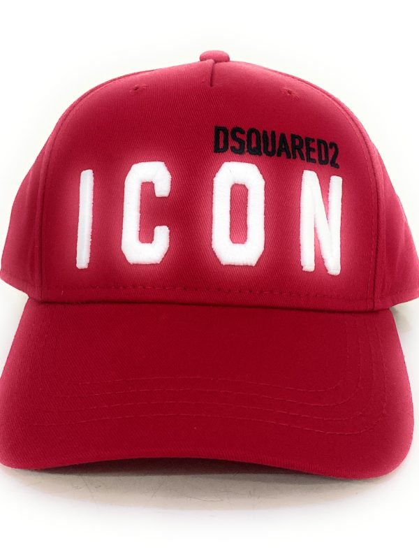 Dsquared2 Cappello ICON con logo frontale. Cappello regolabile sul retro. Acquistalo su ViaRomaBoutique.it