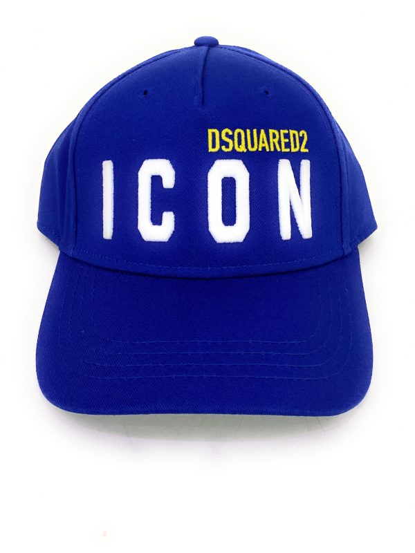 Dsquared2 Cappello Blu con logo frontale. Cappello regolabile sul retro. Acquistalo su ViaRomaBoutique.it