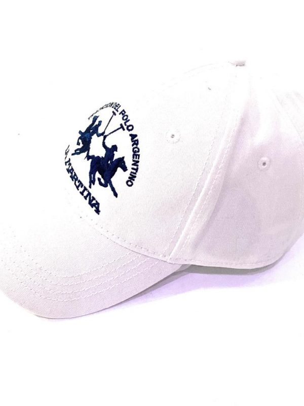 La Martina Cappello Con Visiera e Logo Frontale Bianco Unisex Acquistalo su ViaRomaBoutique.it