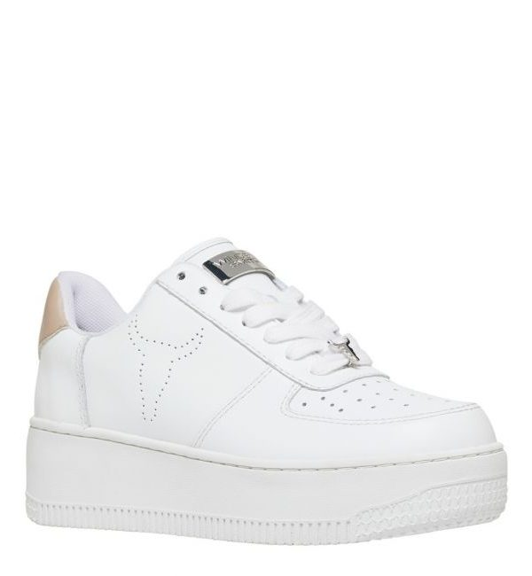 WindsorSmith Sneakers Donna, Tomaia in pelle Fodera in rete sportiva Retro colorato a contrasto con placca Windsor Smith. Acquistalo su ViaRomaBoutique.it